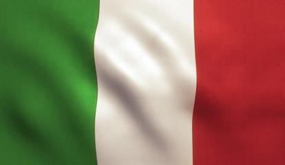 Italian Flag Waving - Italy Texture