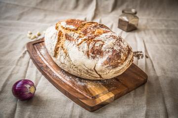 Fresh homebaked bread