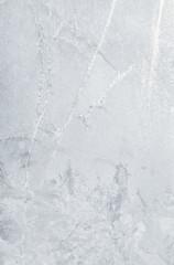 texture of ice on the window