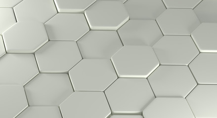 Abstraction consisting of gray polygons
