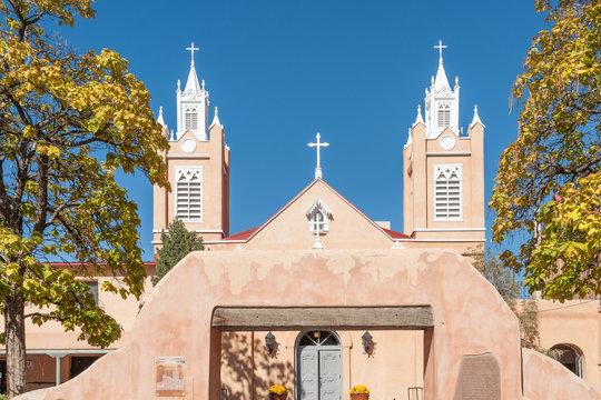 Spanish Felipe de Neri church in Albuquerque historic Old Town, NM