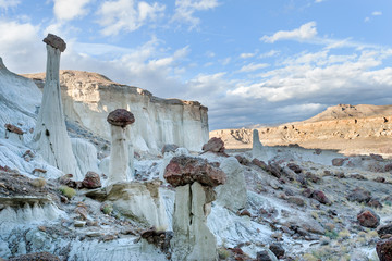 Famous hoodoos in Wahweap wash in Grand Staircase Escalante national monument