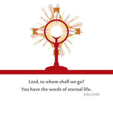 Prayer in times of grief in front of the Holy Eucharist