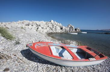 Haraki Bay near the town of Lindos on the Island of Rhodes, Greece