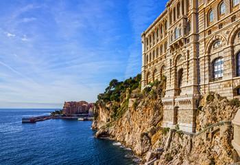 Monaco and Monte Carlo principality. Sea view, Oceanographic museum