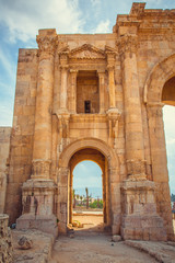 ancient ruins. old Roman city of Jerash, Jordan
