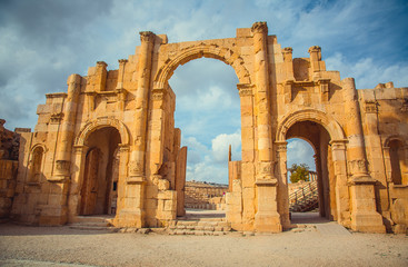 Roman ruins of ancient city of Jerash. Jordan.