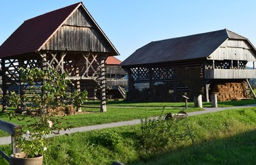 Traditional Slovenian Hay Stacks