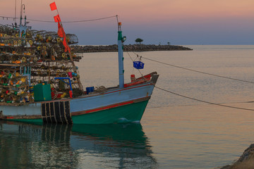 Fishing boats in the sea