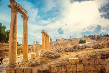Roman ruins of ancient city of Jerash. Jordan.