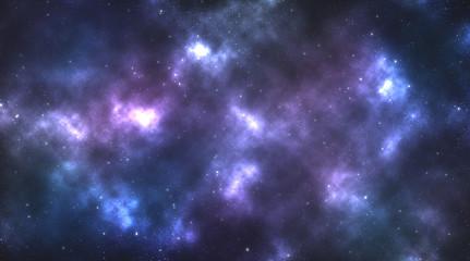 Buntes Farbspiel durch Astronomischen Nebel.