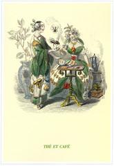 Illustration / Les fleurs animées de Grandville / Thé et café