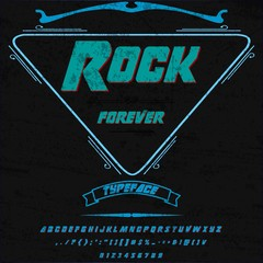 Rock forever Vector Font -Script -vintage -Typeface script font  typeface for labels and any type- designs
