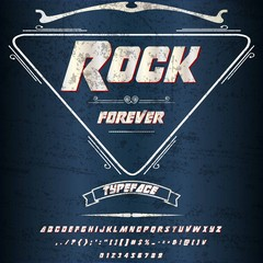 Rock forever Font Script -vintage Typeface script font -Vector typeface for labels and any type- designs