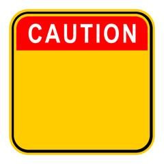 Sticker Caution Safety Sign