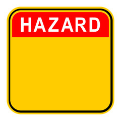 Sticker Hazard Safety Sign