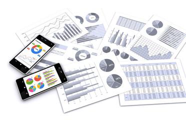 スマートフォンとビジネス資料
