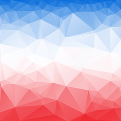Red and Blue Poly abstract background.