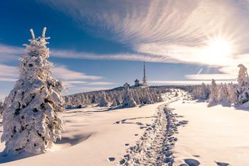 Heinrich Heine Weg zum Brocken Winter
