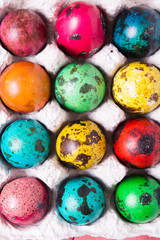 Color quail eggs