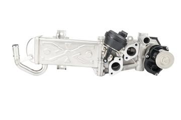 EGR valve, car part isolated on white