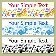 Set of Shopping Tags, Labels, Stickers or Business Cards, Backgrounds with Various Colorful Patterns. Eps10, Contains Transparencies. Vector