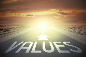 Road concept - values