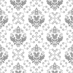Oriental vector classic silver pattern. Seamless abstract background with repeating elements. Orient background