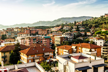 View above Lerici, Liguria, Italy.