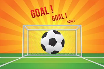 Vector of soccer ball to goal.