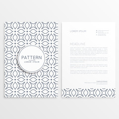 letterhead design in minimal style