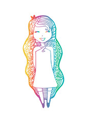 fashion hipster girl