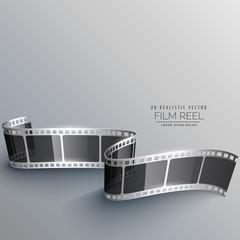 realistic 3d film strip vector design