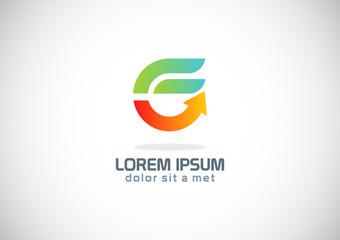abstract letter e arrow logo
