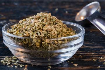 Oregano in an ingredient bowl