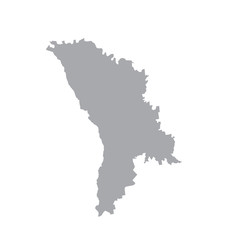 Moldova, vector map silhouette. gray on a white background.