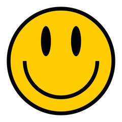 Smiley Icon Smiling Face Flat Style
