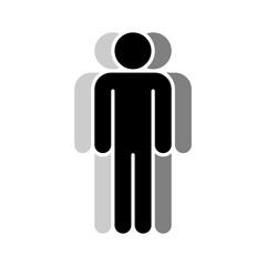 Three Human Sign People Symbol