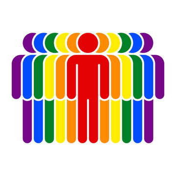 Parade LGBT Movement Rainbow Flag