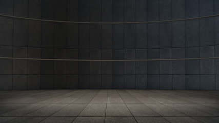 Empty room with light spot,abstract space.3D rendering