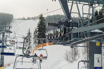 ski snow-covered landscape