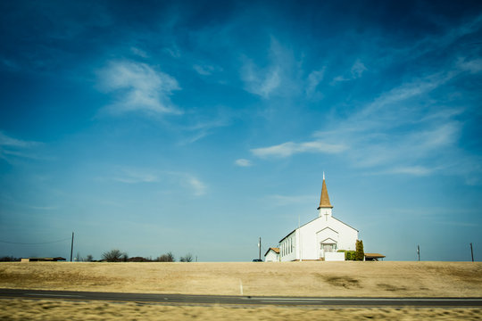 Small chapel in rural America