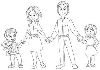 Eine glückliche Familie Vektor-Illustration