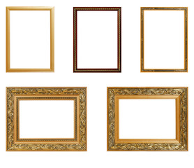 Set of vintage frame isolated on white background. Interior Design. Copy space