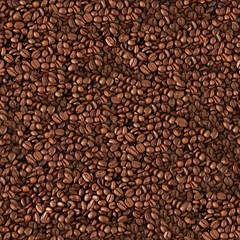 Seamless coffee beans background.