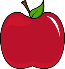 Cartoon Red Apple Illustration