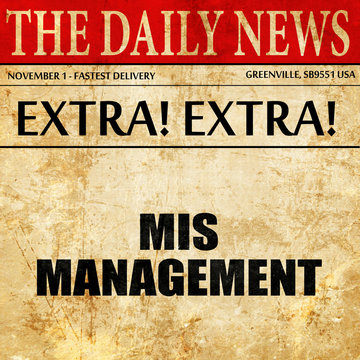 mismanagement, article text in newspaper