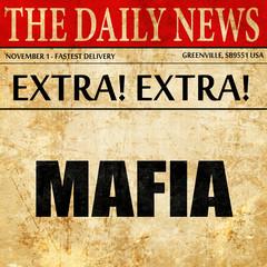 mafia, article text in newspaper