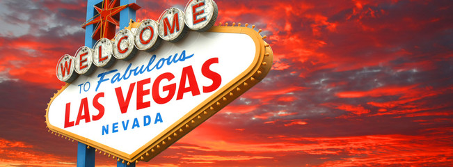 Fototapeten Las Vegas Welcome to fabulous Las Vegas sign