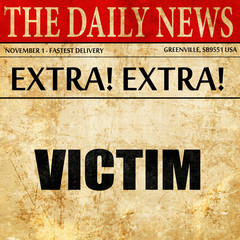 victim, article text in newspaper